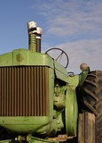 antique diesel tractor poster