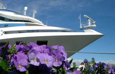 the yacht and the flowers