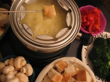 fondue (chees)