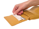 wallet with card-clipping path poster