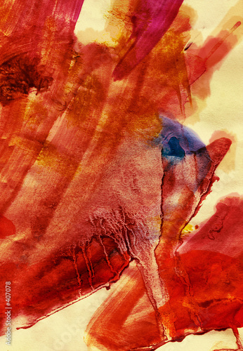 fiery textured painting