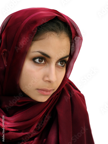 middle eastern beauty in a scarf