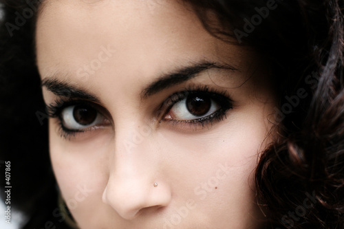 beautiful middle eastern girl close-up