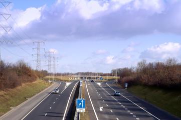 almost empty dutch highway