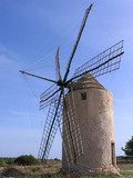 old windmill in formentera (spain) poster