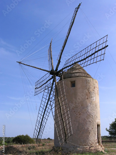 old windmill in formentera (spain)