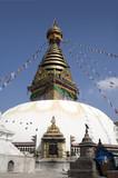 swayambhunath temple - nepal poster