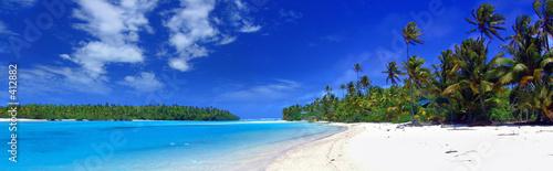 Leinwanddruck Bild panoramic lagoon