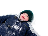boy child winter fun poster