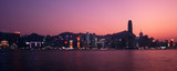 hongkong panorama at dusk poster