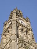 manchester town hall tower poster
