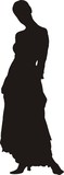 sexy woman in dress silhouette poster