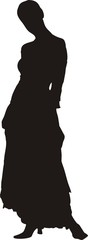 sexy woman in dress silhouette