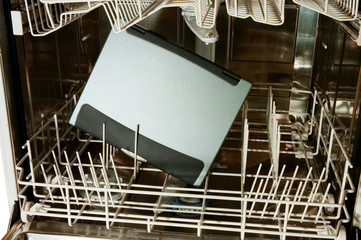 notebook in dishwasher - ready to clean