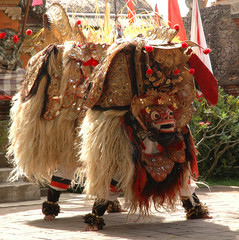 indonesia, bali: barong dance