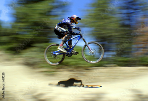 Poster Fietsen mountain bike racer