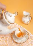 serving tea poster