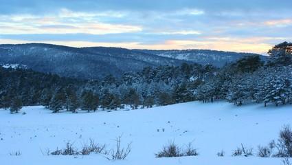 paisaje de nieve y hielo