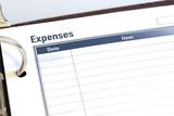 expense sheet poster