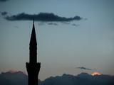 minaret of mosque poster