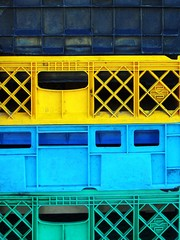 colorful shipping crates