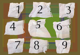 graph paper numbers poster