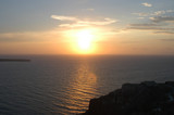 greek sunset poster