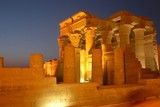 egyptian temple by night poster
