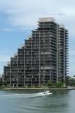 skyscraper at miami beach, florida poster