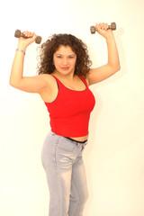 sexy woman exercising