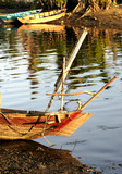 vietnam, hoi an: boats on the river poster