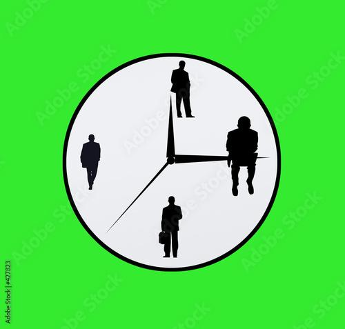 Leinwanddruck Bild business clock