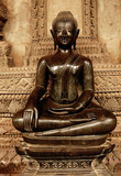 laos, vientiane: buddha poster