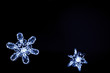 real snowflakes closeup