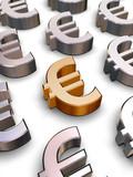 3d euro symbols poster