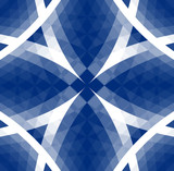 blue tribal pattern poster