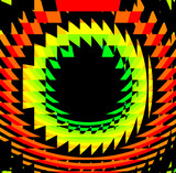 rainbow circular vortex poster