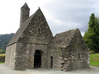 st. kevin's chapel at glendalough