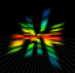 color spectrum blur