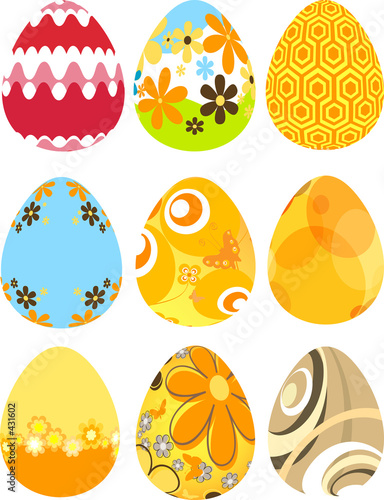 retro easter eggs
