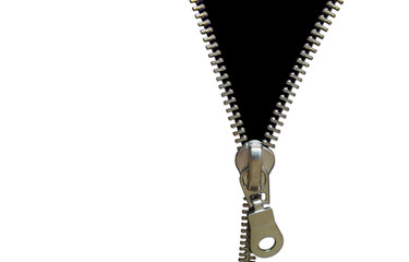 zipper concept. black and white