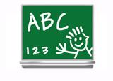 school chalkboard - kids poster