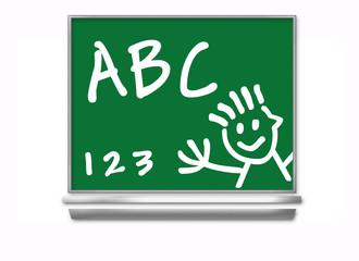 school chalkboard - kids