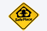 safe place sign poster