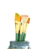 paint brushes poster