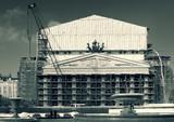 bolshoi theatre on big repair poster