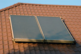 flat-plate solar collector poster