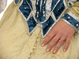 fragment of polish clothes of 16 century poster