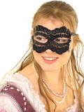 young lady in mask poster