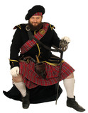 scotch warrior with sword poster